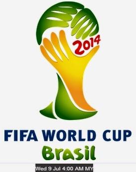 Keputusan Penuh Brazil vs Jerman (Germany) Piala Dunia Brazil 2014