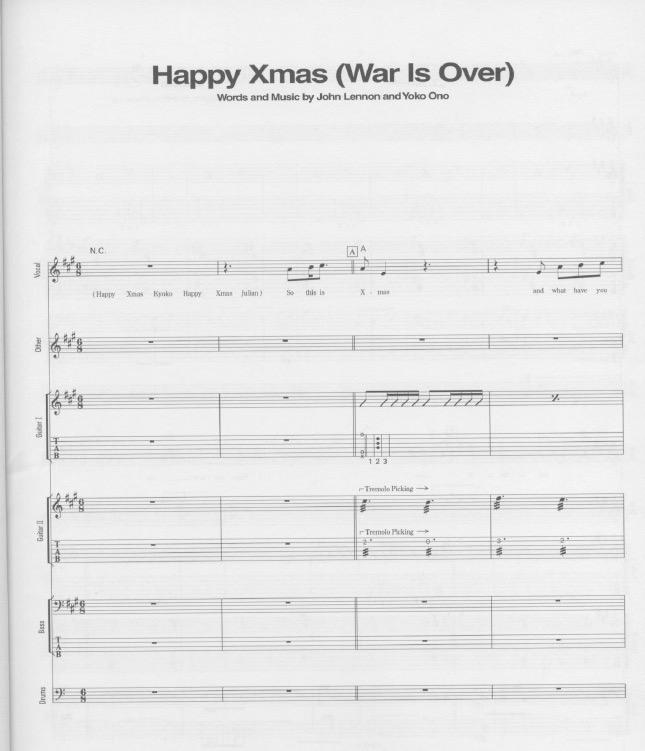 John Lennon - Happy Xmas (War Is Over) | Partituras para Piano