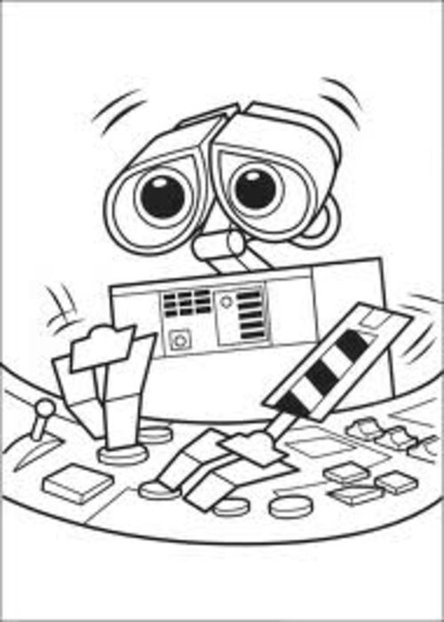 wall_e coloring pages - photo#34