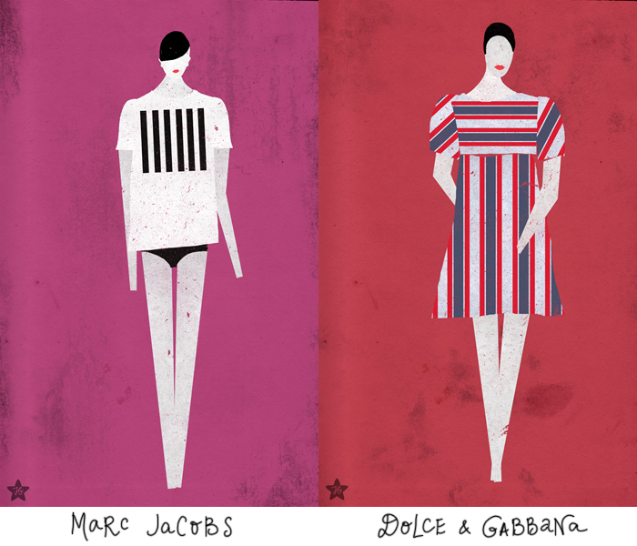 Fashion -- spring 2013: Marc Jacobs, Dolce & Gabbana