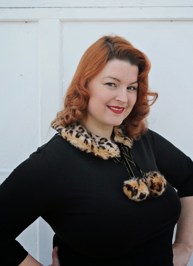 faux fur leopard pom pom peter pan pin up collar from wacky tuna on etsy