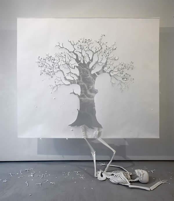 karya seni kertas tiga dimensi