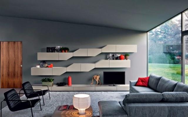 Living room bookshelves and shelving units 20 elegant ideas - Novamobili living ...