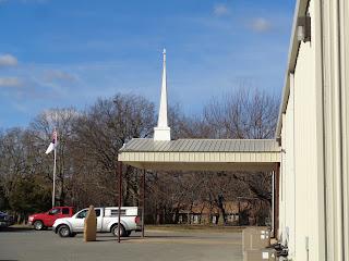 Elm Tree Baptist Church entrance
