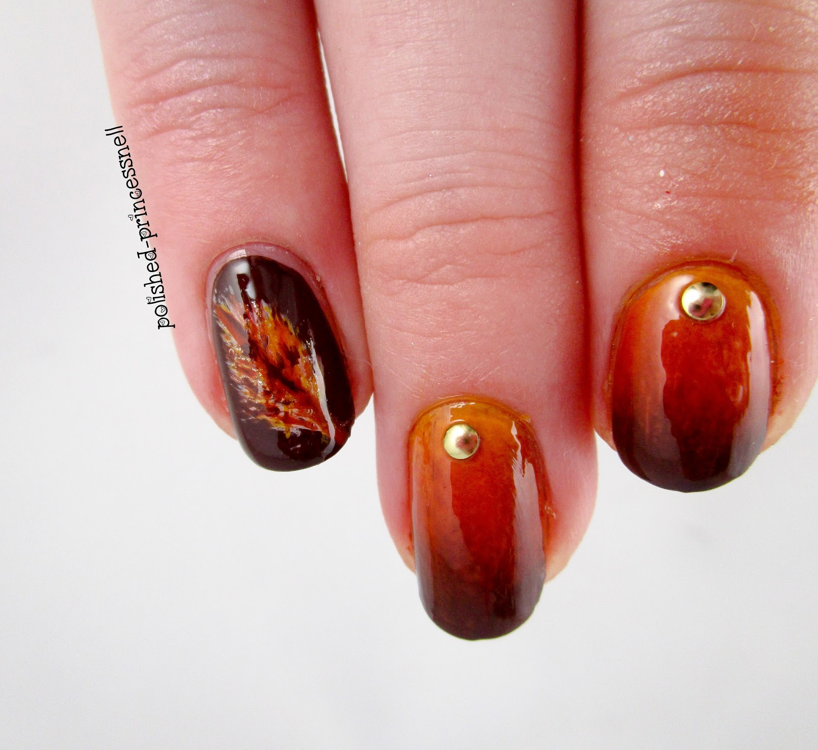 Diy Autumn Gradient Nail Art: Polished Princessnell