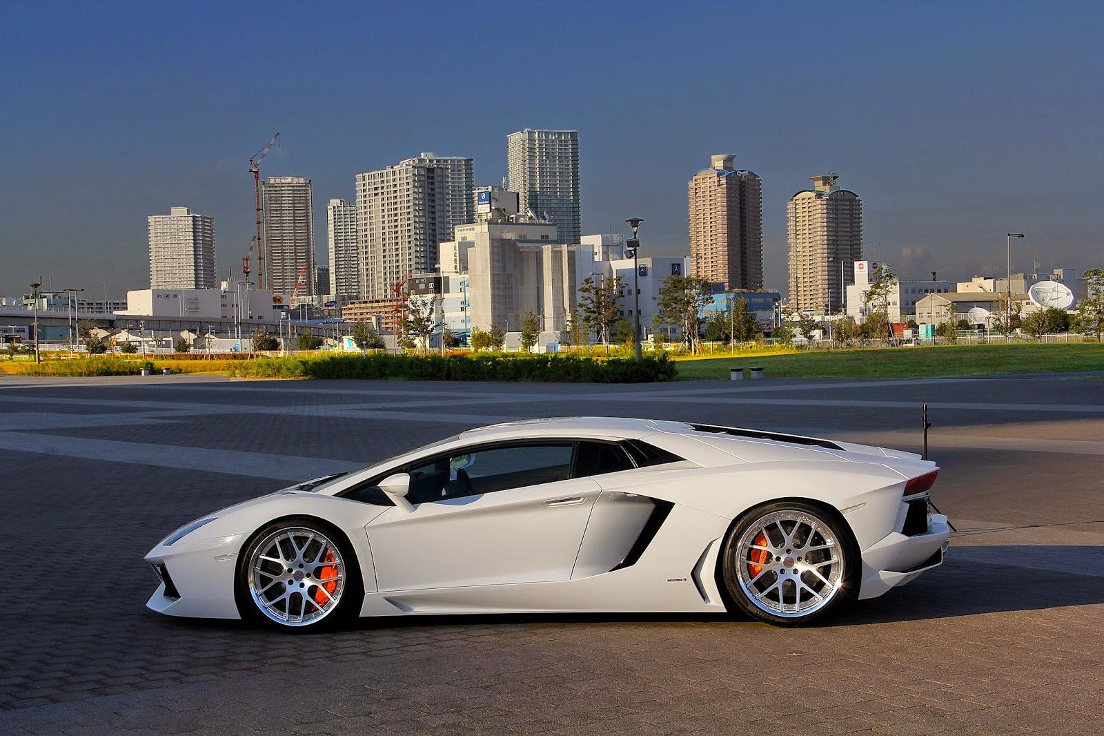mobil lamborghini putih