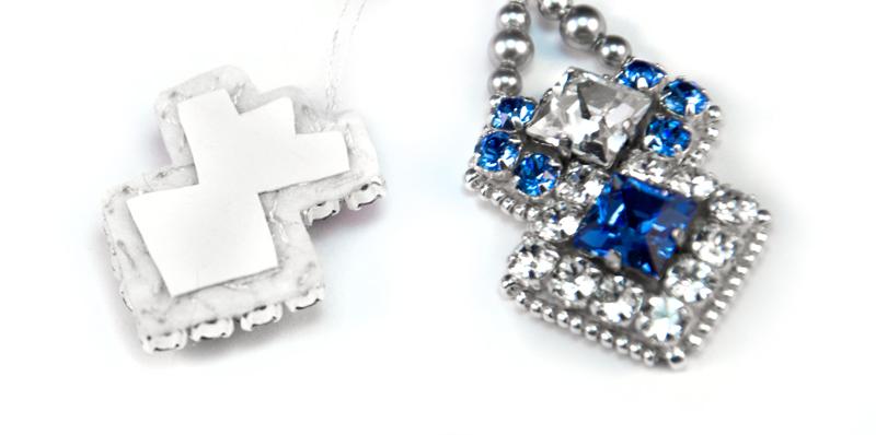 Мастер-классы: Мастер-класс: вышивка бисером и кристаллами, серьги Небеса