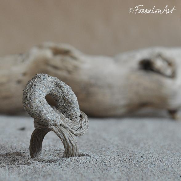 Anello in corda e sabbia