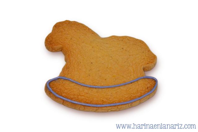 decoracion galleta caballo: paso 1
