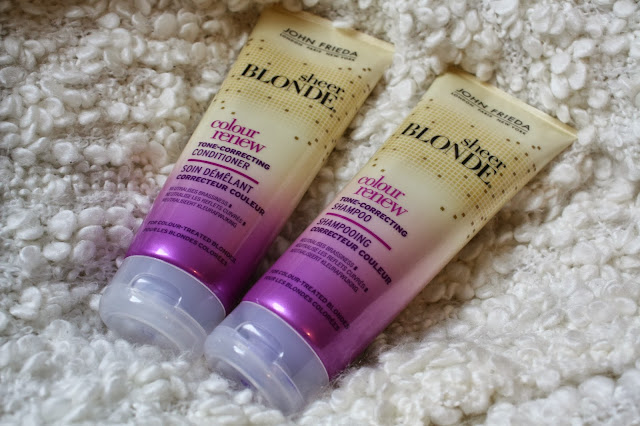 John Freda Sheer Blonde Tone Correcting Shampoo and Conditioner