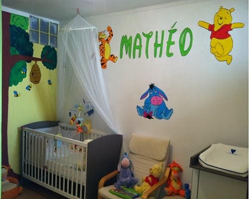 Décorer la chambre de votre bébé avec Winnie l'Ourson