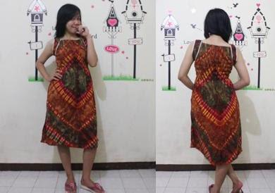 batik pekalongan dress kerut smok
