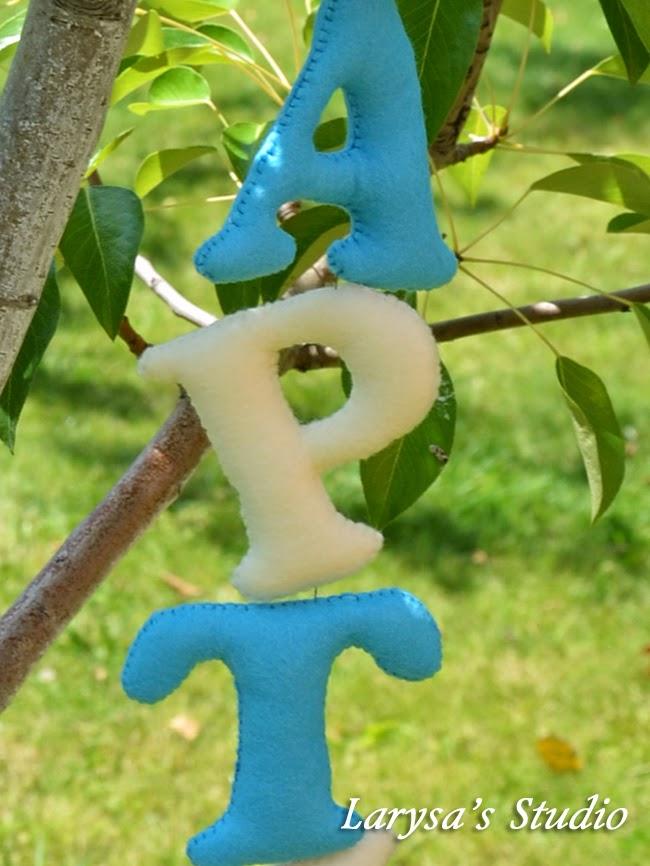 фетровые буквы