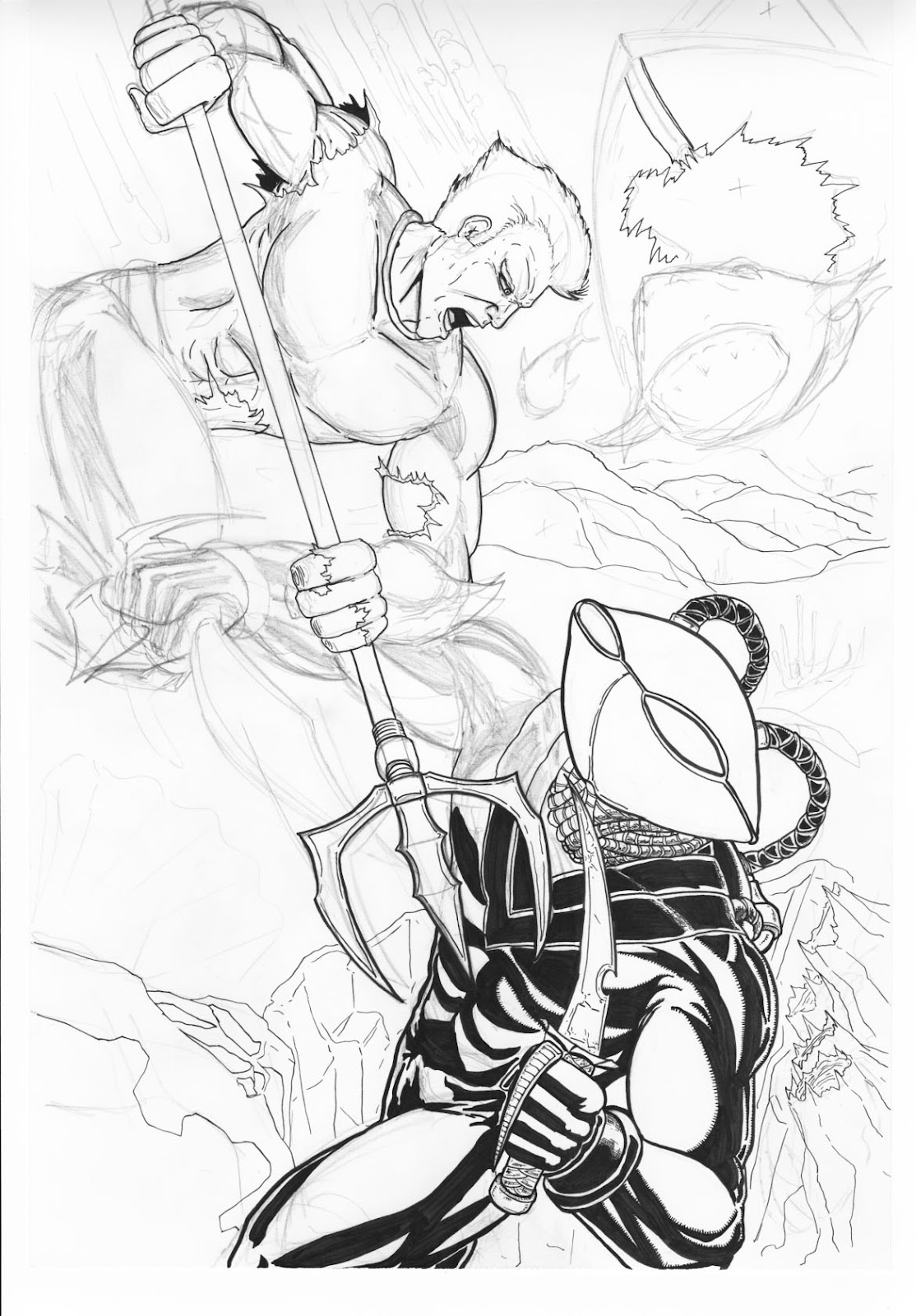 the art of don cardenas commission black manta vs aquaman