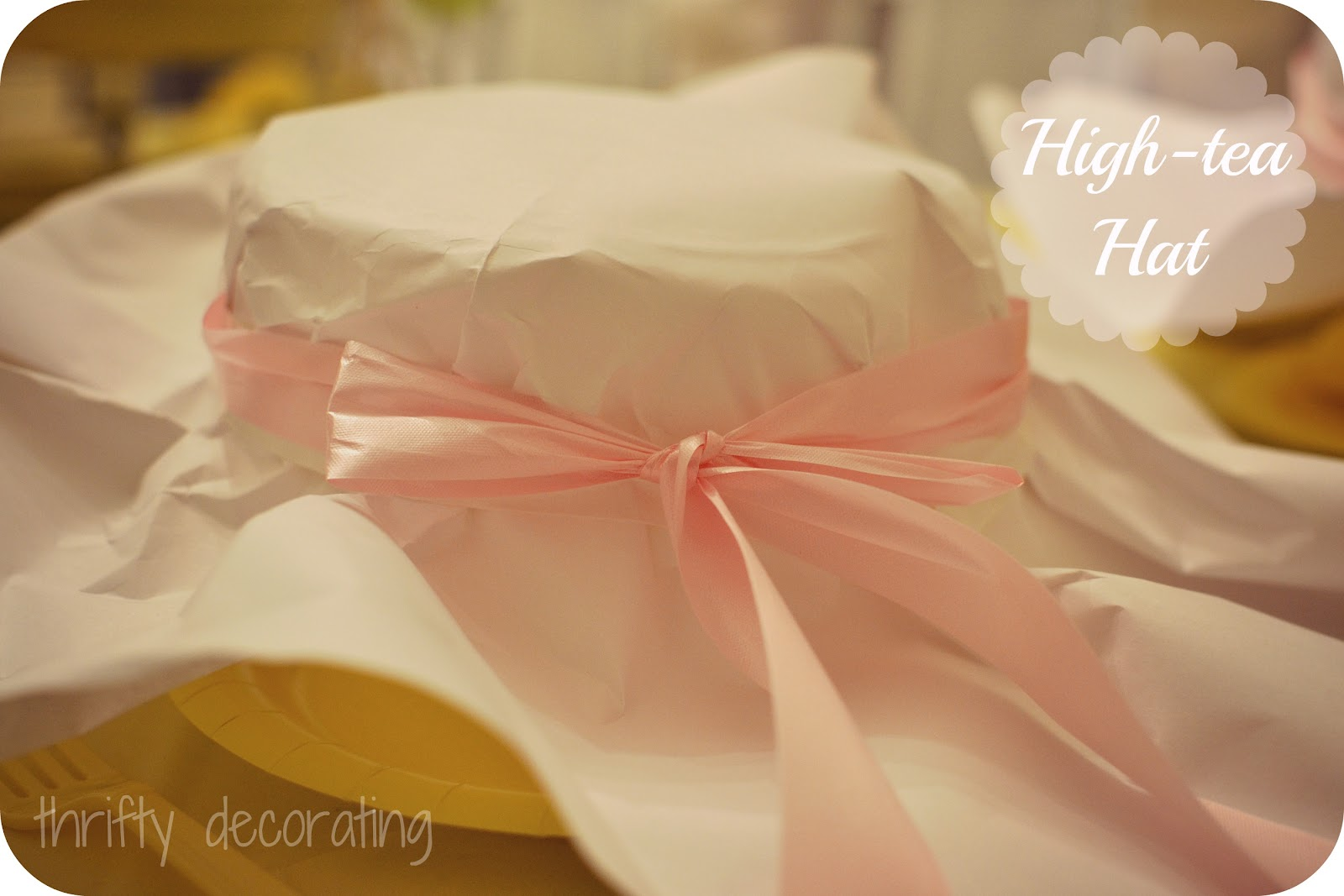 Thrifty decorating tea party hats and party pics for How to decorate a hat for a tea party