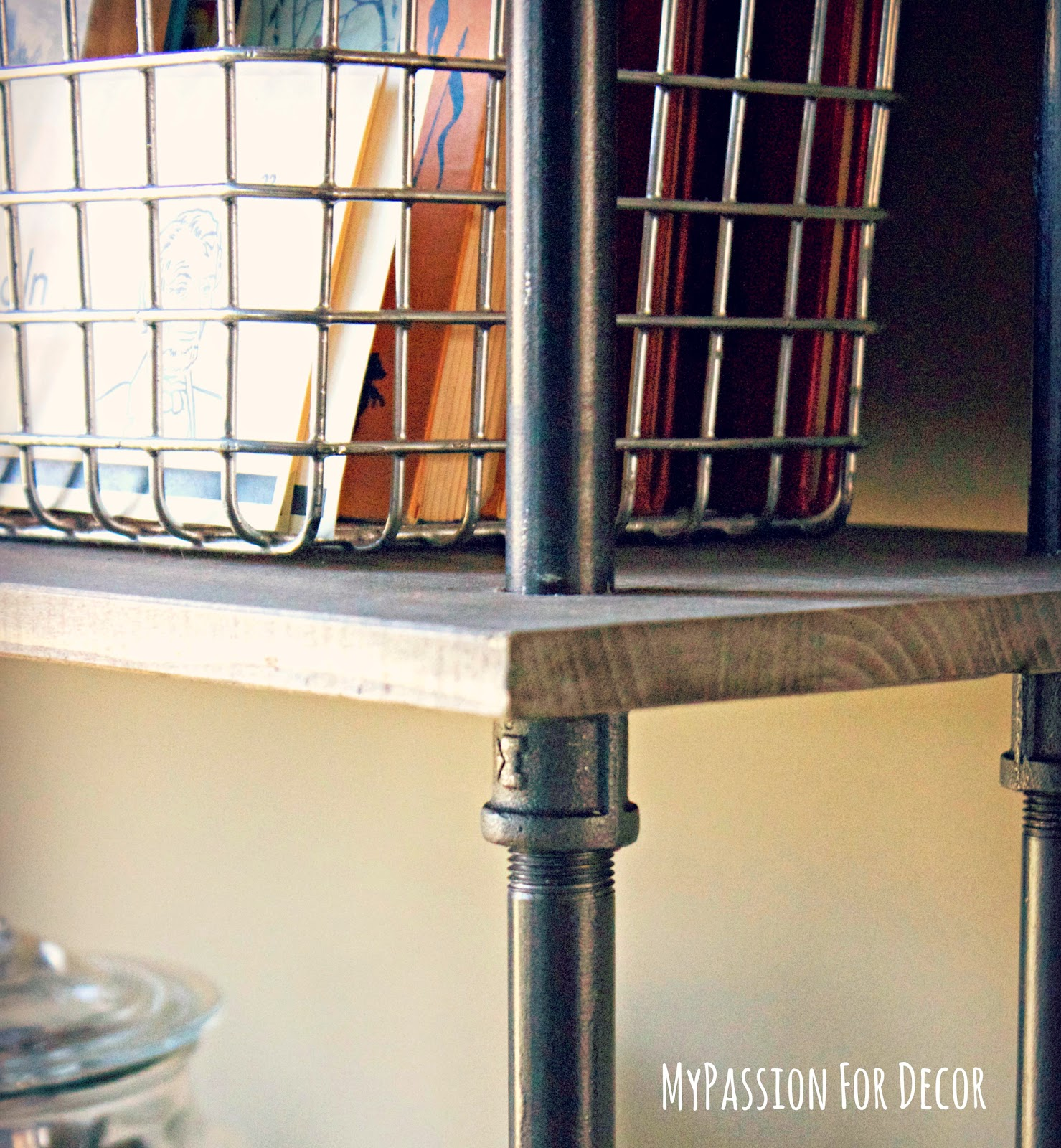 Diy Industrial Decor: My Passion For Decor: DIY Industrial Pipe And Wood Shelving