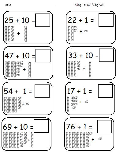 Adding Tens Worksheets - Khayav