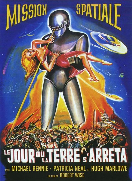 printables, classic posters, free download, graphic design, movies, retro prints, theater, vintage, vintage posters, Mission Spatiale, Mission to Mars - Vintage French Sci Fi Poster