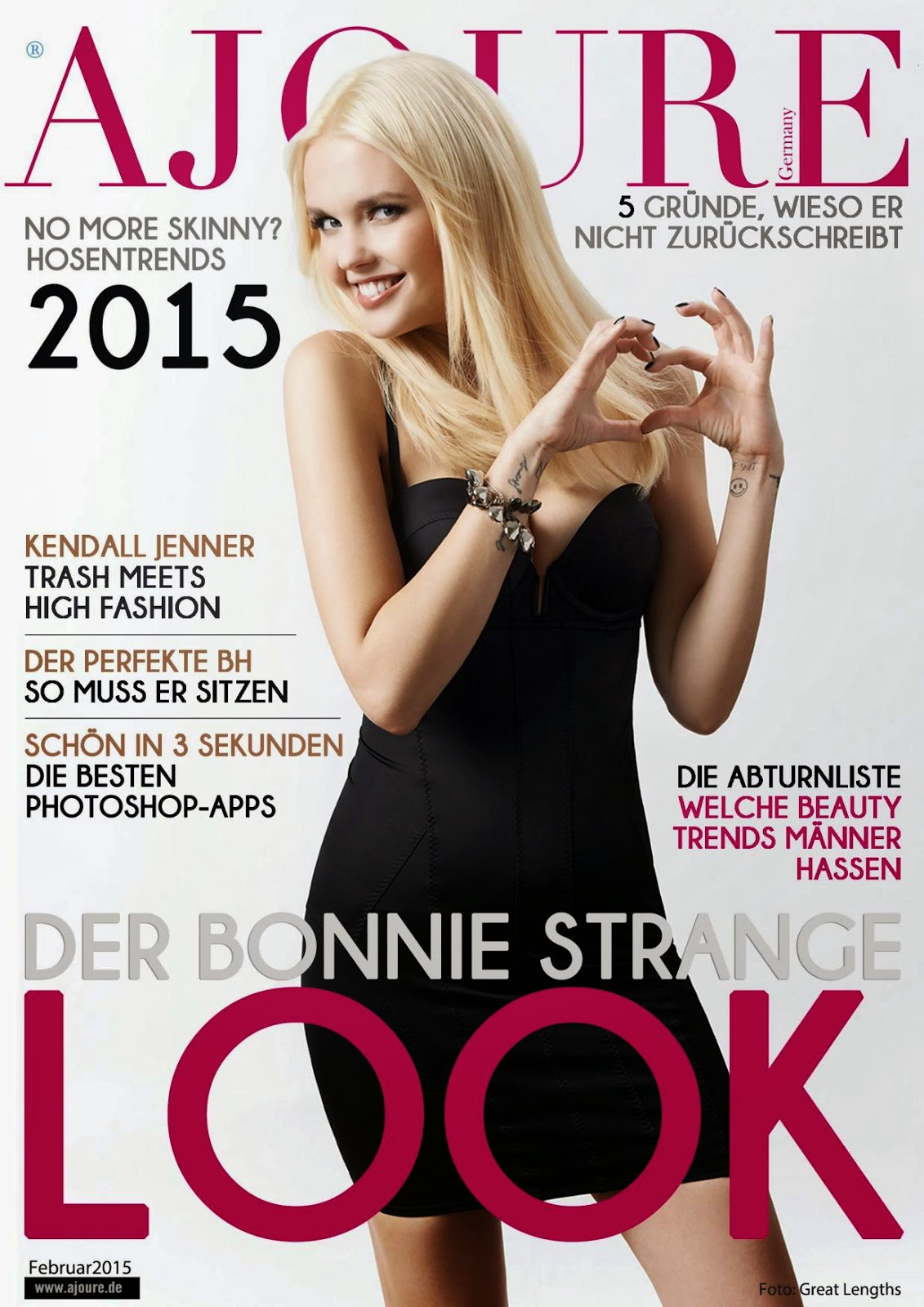 Model , Fashion Designer And Singer: Bonnie Strange - Ajoure Germany, February 2015