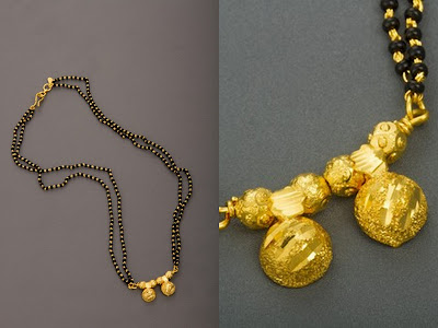 Maharashtrian Mangalsutra with Two Vatis