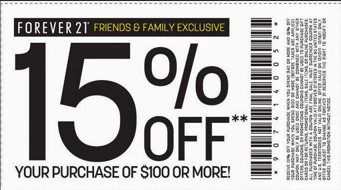 Forever 21 Printable Coupons February 2014