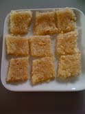 Coconut Burfi is with coconut and sugar