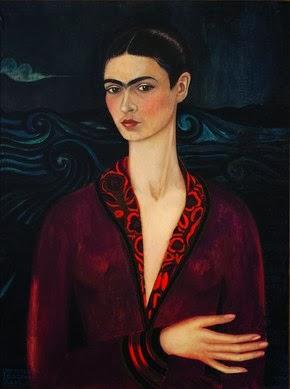 Autoportrait à la robe de velours Frida Kahlo 1926