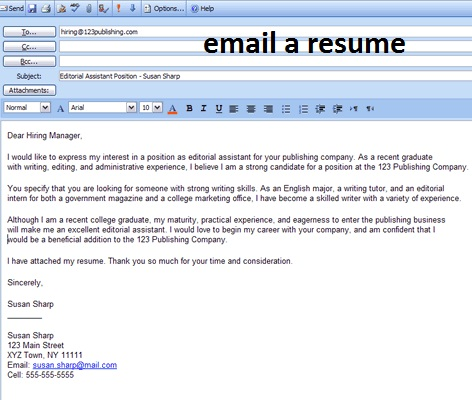 business letter sle how to email resume