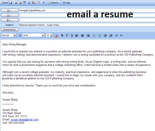 email a resume example | resume email sample