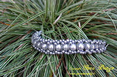 Gunadesign beaded Bracelet Simply Grey