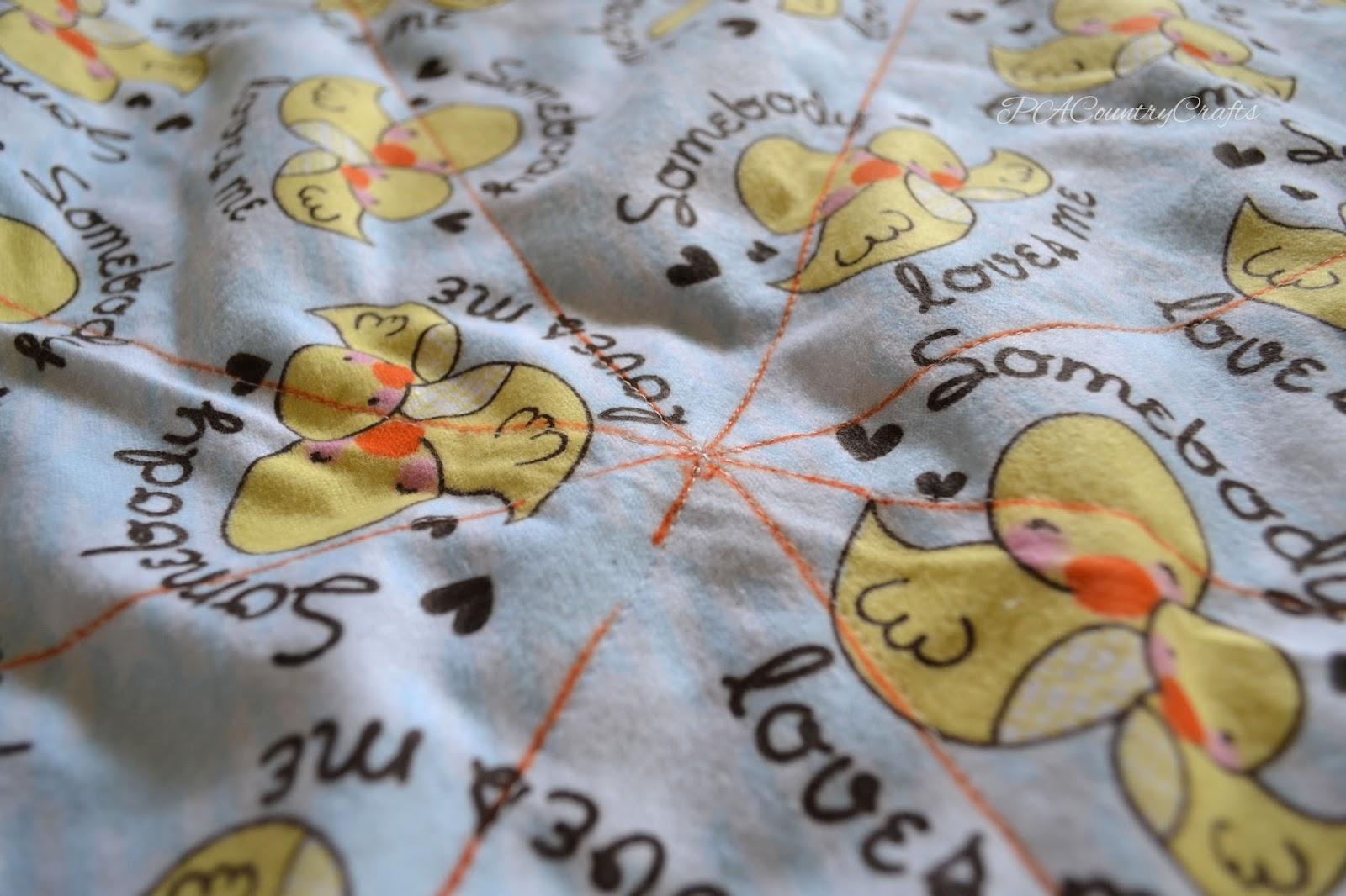 Flannel Rag Edge Baby Blanket Tutorial