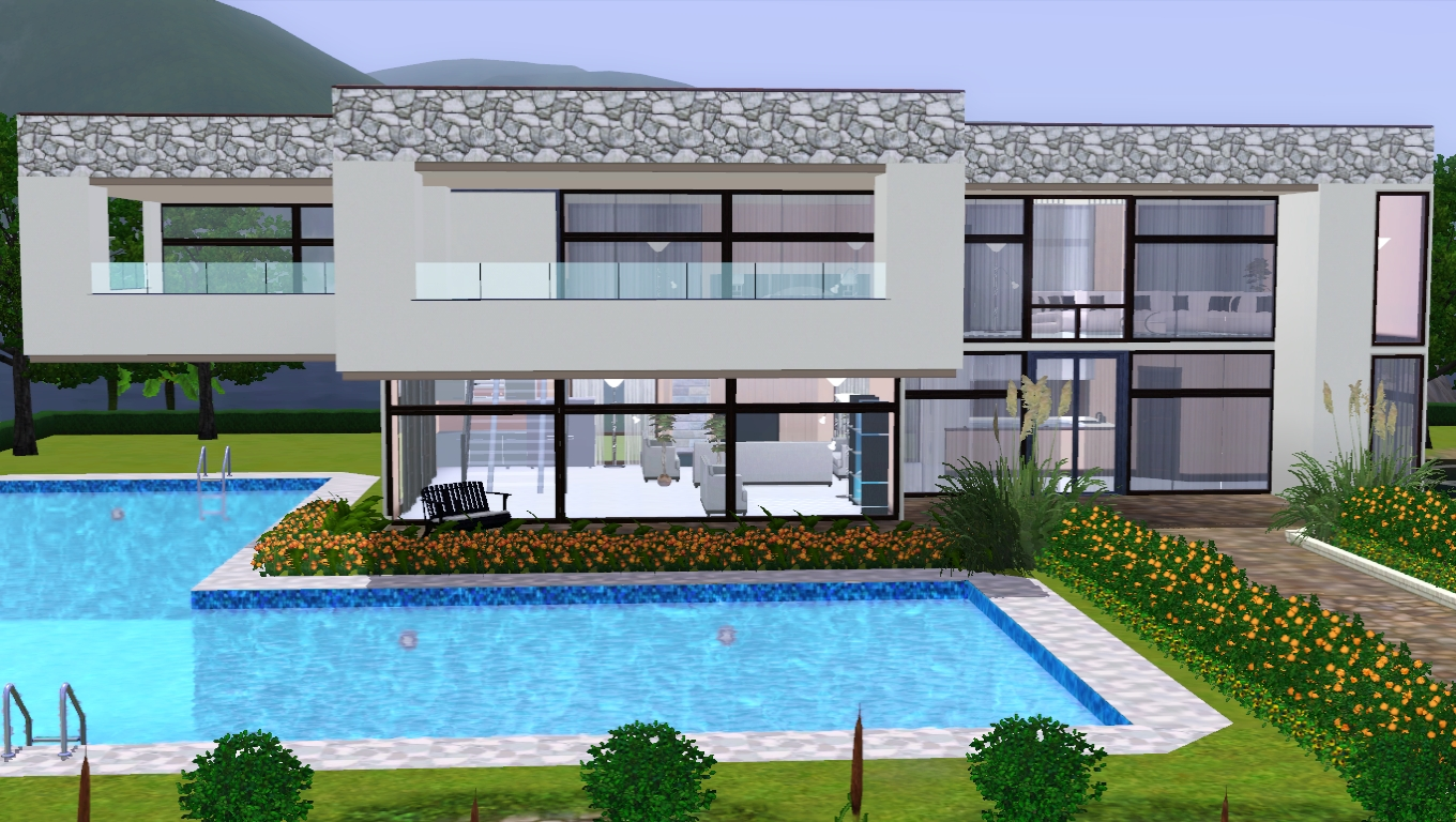 The sims giuly download e tutorial di the sims 3 casa for Casa moderna a 3 piani
