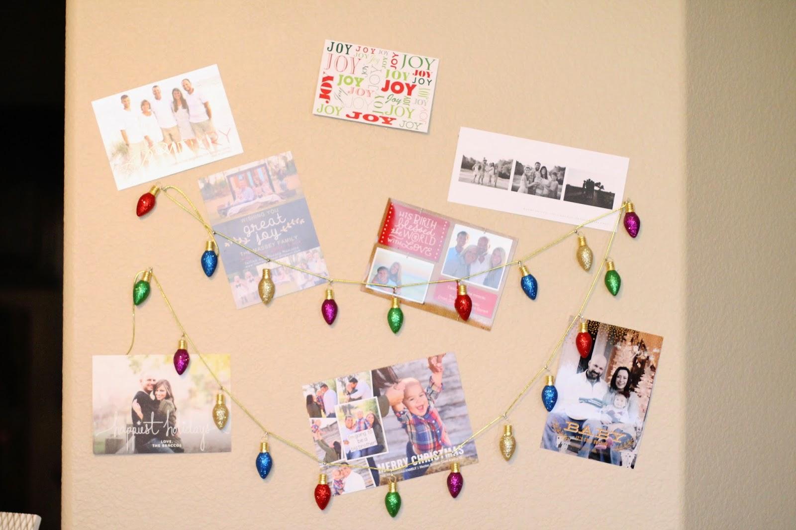 Tucker Up: DIY Christmas Card Display