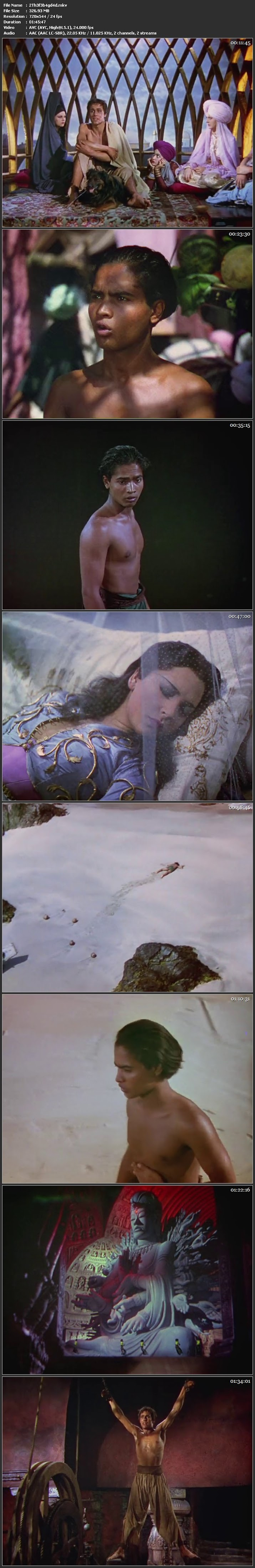 Screen Shot Of The Thief of Bagdad Movie Download in Hindi HD Dual Audio 480P BRRip 300MB