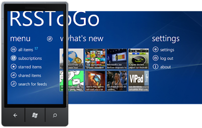 RSSToGo windows phone 7 google reader app