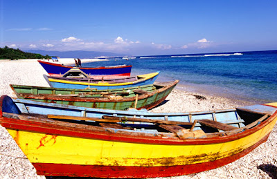 Dominican Republic - Fishing boats on beach