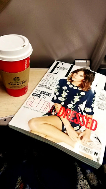 Elle Magazine and Starbucks Cup