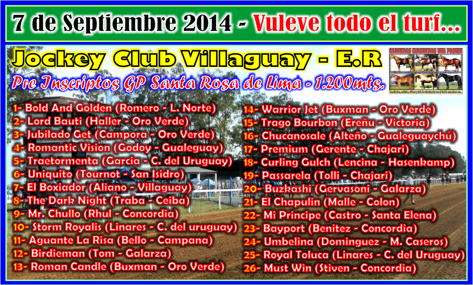 VILLAGUAY - GP SANTA ROSA