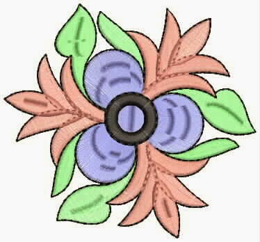 Blomme appliekwerk ontwerp