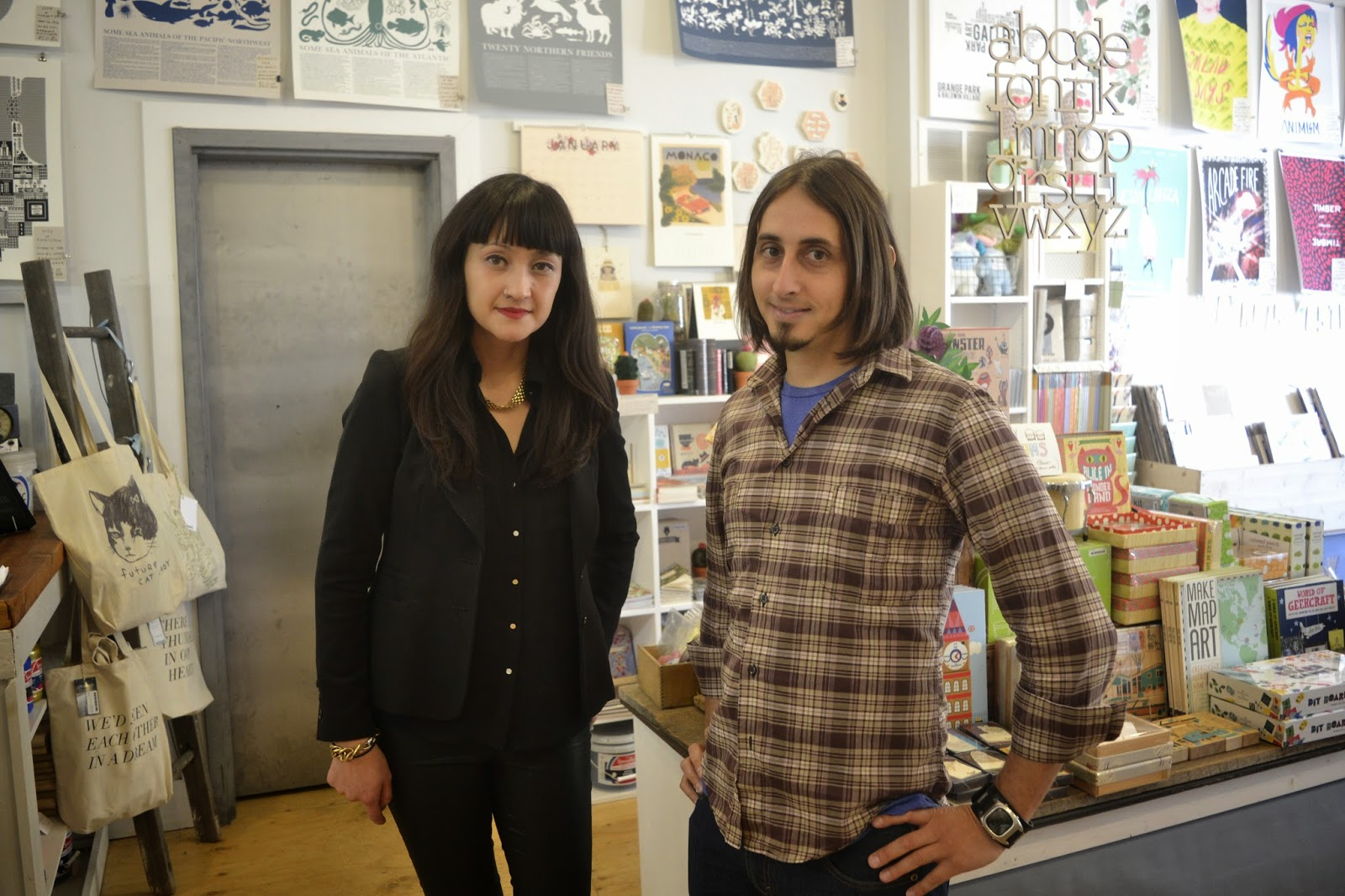 Bianca And Mike Of Kid Icarus At Their Store In Kensington Market Where CBC Filmed The Spot About Our Etsy Made Canada Show This Morning