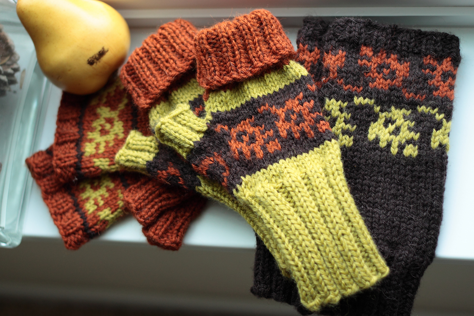 Fall Color Fingerless Mitts