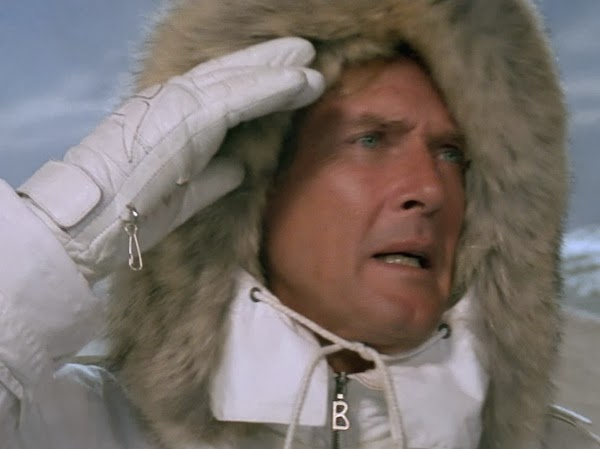 "Bogner white Ski-Suit in James Bond film ""A View to a Kill"""