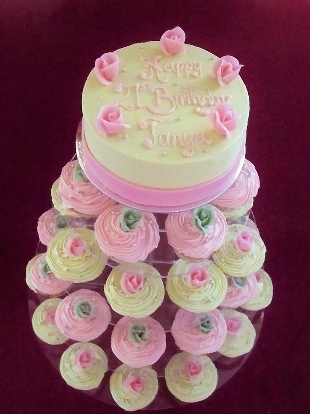 cup cake tower for Birthdays or weddings | Elisabeth\'s Wedding Cakes