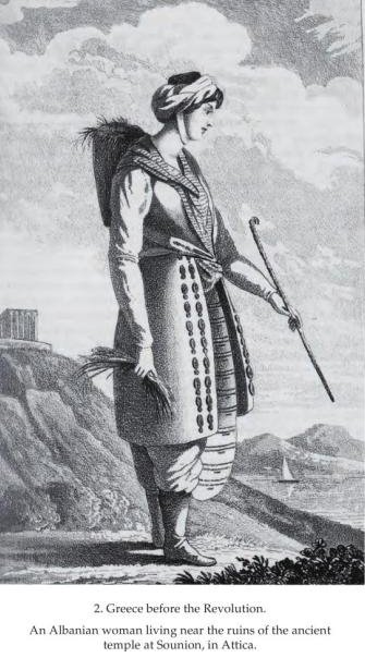 An Albanian woman in Attica(Sounion)
