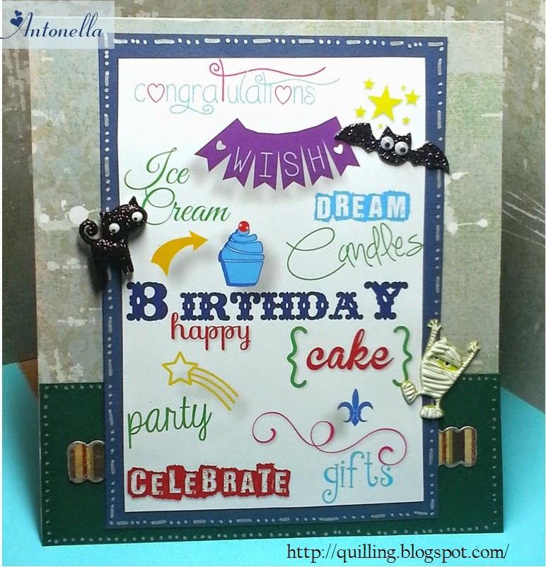 Halloween Birthday Card from Antonella