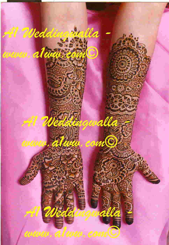 Jaipuri Bridal Mehndi Designs : Mehndi as fashion accessory desings