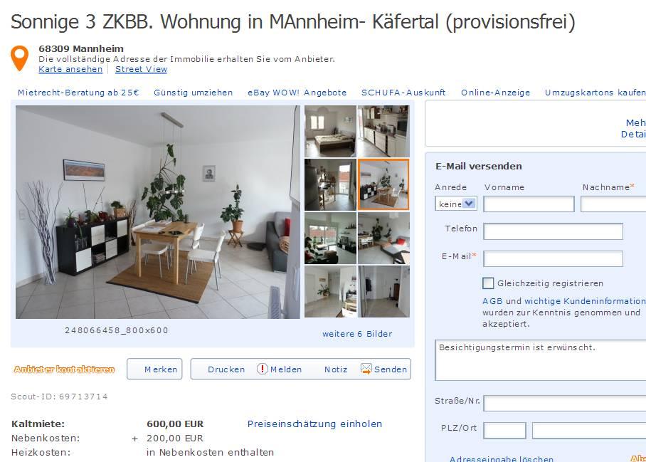 sonnige 3 zkbb wohnung in mannheim. Black Bedroom Furniture Sets. Home Design Ideas