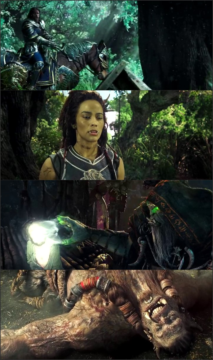 Screen Shot Of Warcraft 2016 300MB Full Movie Hindi Dubbed Free Download 480P BRRip Small Size PC Movie