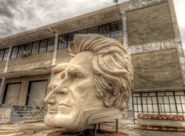 Presidents Heads of David Adickes SculpturWorx - Houston, Texas - 1