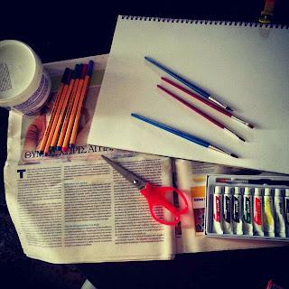 υλικά ζωγραφικής